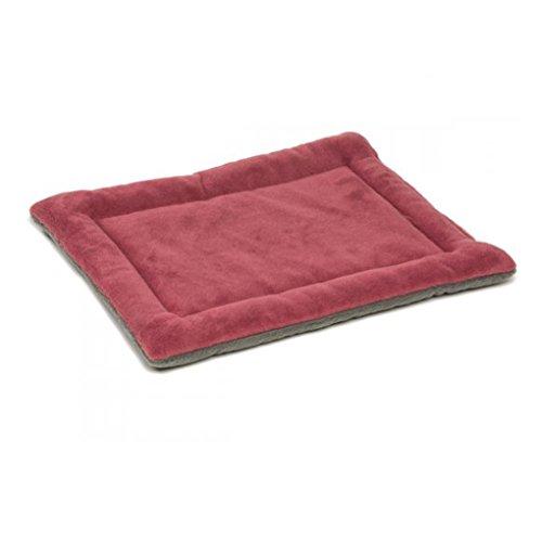 QHGstore Hundebox Mat Kennel Cage Auflage-Bett Fluffy Washabel Spielraum-Haustier-Kissen Weinrot& M (Hundebox Mat)