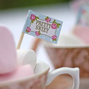 English Tea Party Food Flags x 20 by The Wedding of my Dreams