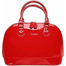 0a8840967c9ba AiSi Damen Lack Leder Handtasche Damenhandtasche   Schultertasche Henkeltasche mit Reißverschluss