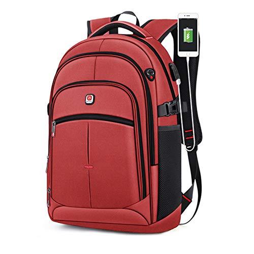 TnXan Men's Casual Backpack Trekking rucksacks Waterproof 15.6-inch Laptop Backpack USB Large-Capacity Backpack