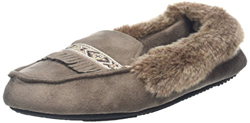 isotoner-pillowstep-moccasin-with-fur-cuff-and-tape-trim-zapatillas-de-estar-por-casa-para-mujer-bei