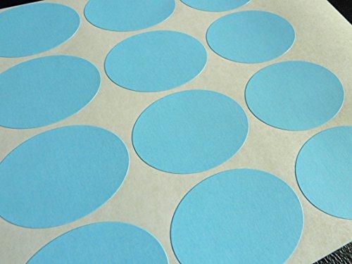 Azul Papel Pegatinas, 40x30mm Ovalado, 32 Etiquetas, autoadhesivo Etiquetas Adhesivas, Económica Pack