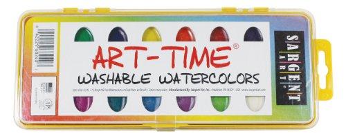 Sargent Art 66-8240Art Zeit 16Stück Waschbar Aquarelle Pfanne Set mit Bürste -