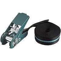 Wolfcraft 3418000 - Tensor de cinta de carraca (fuerza de sujeción 180 kg) 4 m