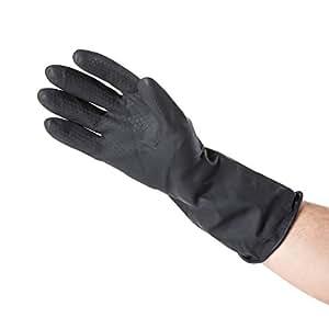 Minky Heavy Duty Black Rubber Gloves Size Large