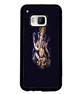 PrintDhaba Lord Ganesha D-1251 Back Case Cover for HTC ONE M9S (Multi-Coloured)