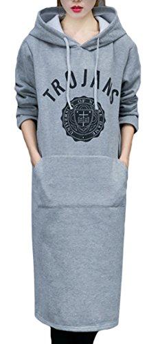 La vogue Damen Sweatshirt Pullover StrickJacken Langarmshirt Pulli Grau