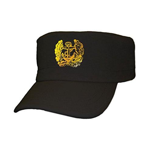 deutsche Marine Eichenlaub Anker Bundeswehr Bund Bw Deutschland - Cap Kappe Baseballcap Kopfbedeckung (kahki 5,5cm x 5,5cm) #12358 Bierkrüge, Deutsch