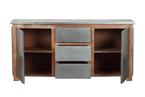 The Wood Times Sideboard Vintage Wohnzimmerschrank Massiv Odisha Sheeshamholz, FSC Zertifiziert, BxHxT 175x85x45 cm - 3