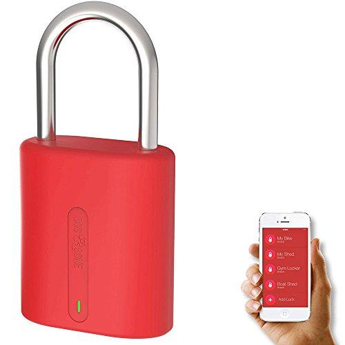 DOG & BONE DAB-LSM006 LockSmart Mini Bluetooth Schloss für Apple iOS/Android Rot (Bluetooth-telefon Apple)