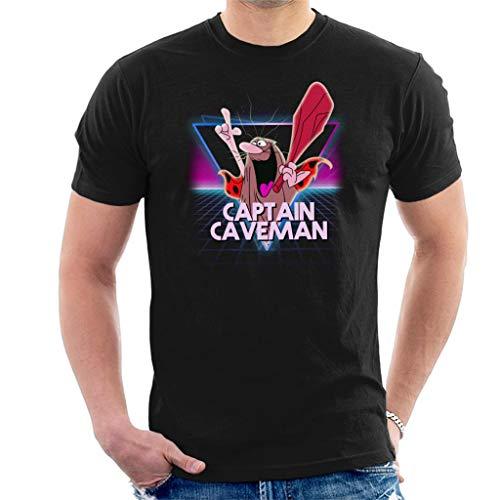 Captain Caveman Retro 80s Neon Landscape Men's T-Shirt - S to XXL