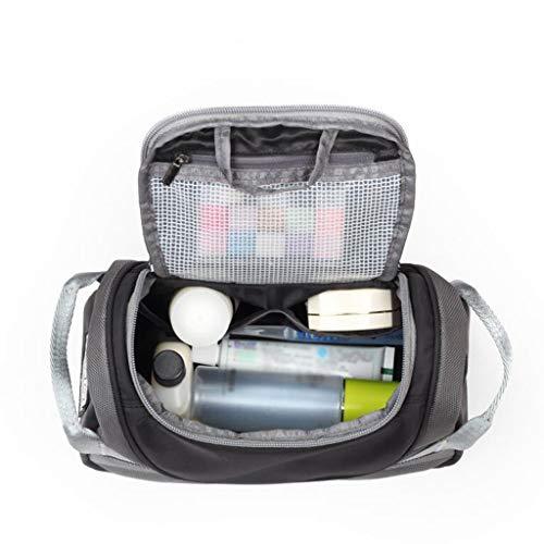Trousse de toilette Étanche Cosmetic Bag Storage Grande Capacité Multi-Fonction Portable Simple Travel Wash Universal 2 Couleur 24.5 * 11.7 * 12.6cm MUMUJIN (Color : Black)