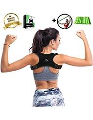 WOWELIX Geradehalter zur Haltungskorrektur Schultergurt gegen Nacken -und Schulterschmerzen Rücken Schulter Rückenstütze für Bessere Körperhaltung Schultergurt Haltungstrainer für Damen und Herren