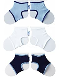 Sock Ons Clever Little Things That Keep Baby Socks On! 3 Pack Boys 6-12 Months by Sock Ons (English Manual)