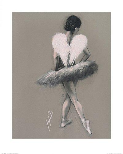 1art1 115725 Ballett - Angel Wings Iii, Hazel Bowman Poster Kunstdruck 50 x 40 cm