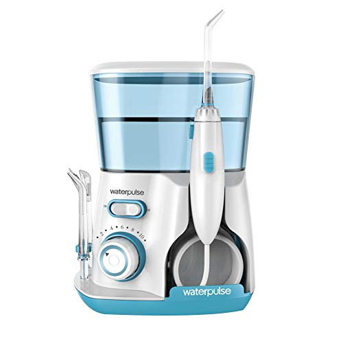 YCQJ Munddusche Kabellos Water Flosser Mit 800 Ml 5 DüSen 10 Wasserdruck Einstellungen Water Flosser Zahnpflege DüSenreinigung ZahnbüRste Reise