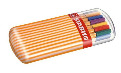 STABILO-point-88-Rotulador-punta-fina-Estuche-premium-Zebrui-con-20-colores