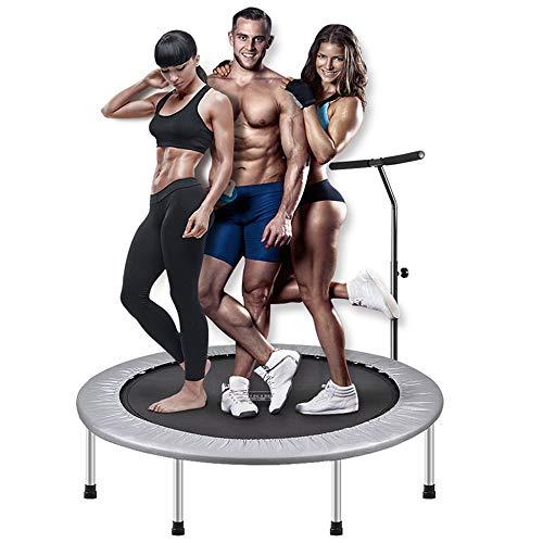 WZFC Mini trampolín Fitness con Manillar, trampolín Interior Plegable,Ejercicio Corporal y Ejercicios cardiovasculares