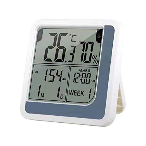 GuDoQi Thermometer Hygrometer Innen Außen Thermo Hygrometer Digitale Tisch Stehen Oder Wandbehang Temperatur Feuchtemessgerät Mit LCD Bildschirm Uhr Kalender Für Büro Zimmer
