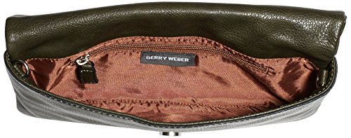GERRY WEBER Be Different Clutch, Pochette donna Verde (Grün (dark green 602))