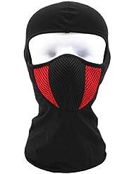 Táctico motocicleta ciclismo caza al aire libre Esquí Máscara de cara completa casco belleza Top, rojo