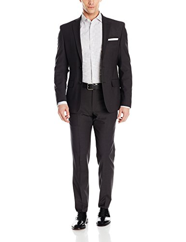 DKNY Men's Two Button Slim Fit Stretch Suit -
