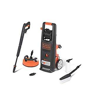 Black+Decker BXPW2000PE High Pressure Washer (2000 W, 140 bar, 440 l/h) with Patio Cleaner Deluxe and Fixed Brush