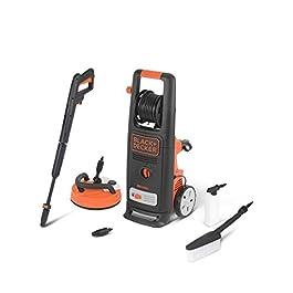Black+Decker BXPW2000PE Idropulitrice ad Alta Pressione (2000 W, 140 bar, 440 l/h) con Patio Cleaner Deluxe e Spazzola Fissa