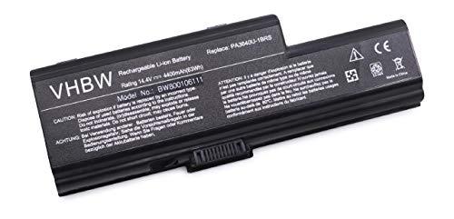 10k Laptop-batterie (vhbw Akku 4400mAh (14.4V) für Notebook Laptop Toshiba Qosmio F50, 01U, 1, -108, 10B, 10G, 10K, 10M, 10Z, -111, -113, 11E, 11I, 11J, 11K)