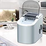 Covan_CN Automatische Eismaschine-Maschine, Mini elektrische Eiswürfel-Maschine, tragbare runde...