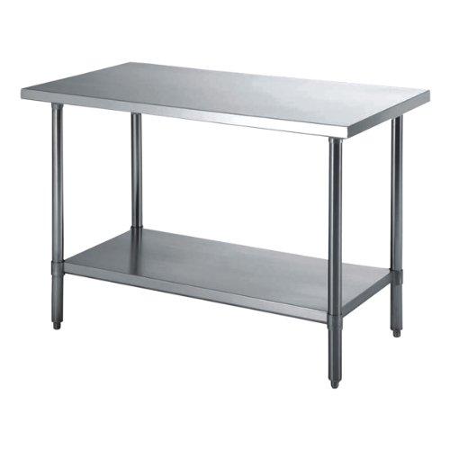 Arbeitstisch 2 Ebenen 90X60X90 Cm Silberfarben Rostfrei