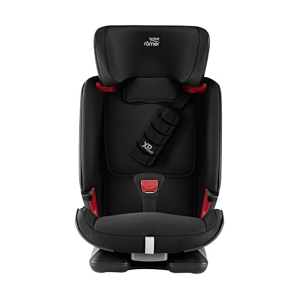 Britax Römer car seat 9-36 kg, ADVANSAFIX Z-LINE Isofix Group 1/2/3, Cosmos Black Britax Römer Made in germany Flip & grow - change from buckle to secureguard Excellent security concept - with xp-pad, secureguard and pivot link isofix system 3