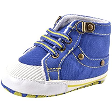 Koly Newborn Baby Kid Cotton Shoes Elastic Band Toddler Soft Sole Shoes (12 ~ 18 meses)