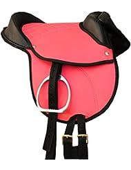 'Pony Sillín Shetty Sillín Pony Equitación Cojín Amesbichler–Compatible con accesorios con set completo Rosa, 12, Pony reitpad también para madera Caballos geeignetes Sillín Juego | Cub Saddle Set