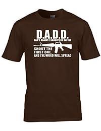 Naughtees Clothing - D.A.D.D Dad´s Against Daughters Dating Lustiges T-Shirt Großartig Für Väter Mit Hübschen Töchtern
