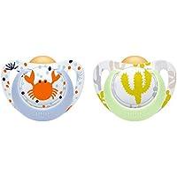 NUK Genius Color Latex-Schnuller, Zahnschonend, Kiefergerechte Form, BPA frei