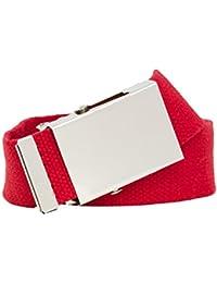 Shenky - Cinturón de tela - Ancho de 4 cm - Talla grande XXL - 160 cm - Se puede acortar - Varios colores
