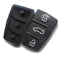 AUDIKS20Replacement Rubber Pad 3Button Car Key Keypad Replacement Key Rubber Buttons Inion (for Audi and Seat)