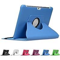 """doupi 360 Deluxe Protección Funda para Samsung Galaxy Tab 2 ( 10,1 pulgada ) Tab II 10,1"""" Smart Case Sleep / Wake función 360 grados de la cubierta de cuero giratoria del caso del soporte protector de la pantalla cubierta de la bolsa, Azul"""