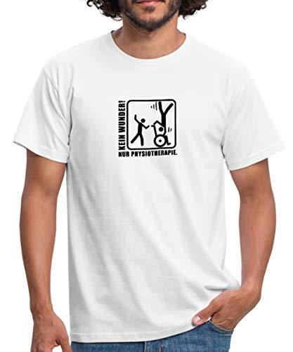 Spreadshirt Kein Wunder Nur Physiotherapie Männer T-Shirt, XXL, Weiß