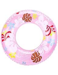 Cartoon cristal doble capa de espesamiento de la boya de vida pvc inflable piscina flotante círculo , pink