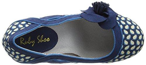 Ruby Shoo Issy - Scarpe con Tacco donna Blu (Blue (Blue Floral))
