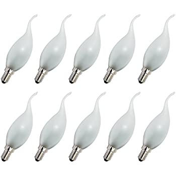 10 x Glühlampe Glühbirne Kerze Windstoß E14 60W 60 Watt klar 230V Leuchtmittel