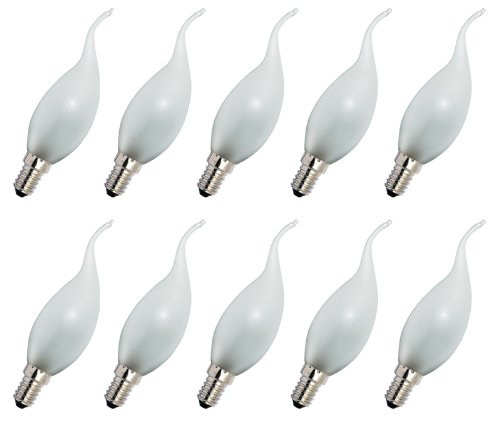 Preisvergleich Produktbild 10 x Glühlampe Glühbirne Kerze Windstoß 15W 15 Watt E14 MATT Glühbirnen Glühlampen Glühbirne Glühlampe Windstoßkerze