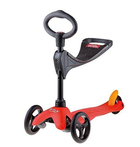 Micro Mini Micro 3in1 Roller Scooter mit Sitz rot Neu