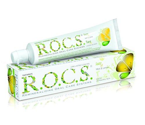 ROCS Tanz von Zitrone und Minze Zahncreme 60ml