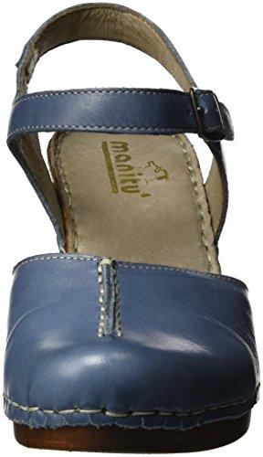 Manitu Damen 920225 Riemchensandalen Blau (Blau)