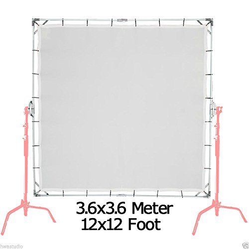 3.6X3.6M 12'X12' Sun-Scrim Schmetterling Kit mit transluzenten 1/3 Bildschirm Sunbounce S -