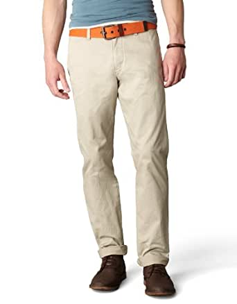 Dockers Men's Alpha Slim Fit Khaki, Safari Beige, 31x32