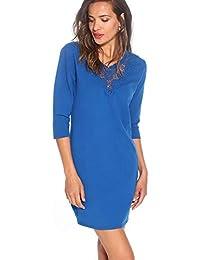 5489b36db7 TREND CAPSULE Vestido Escote v con guipur a Tono Mujer - 036113